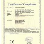 CE certificate of HA HA2 series
